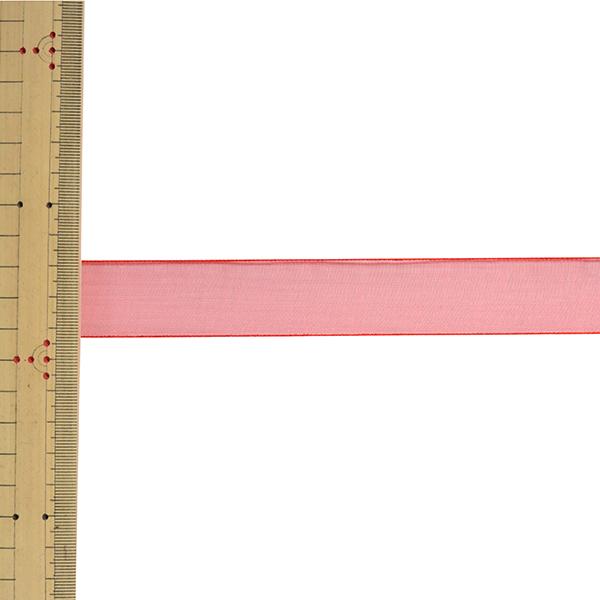 【数量5から】 リボン 『エッジドオーガンジー 幅約2.5cm 47番色 31700』 TOKYO RIBBON 東京リボン
