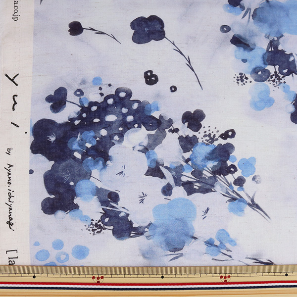 【数量5から】生地 『yui by Ayano ichiyanagi la petit bonheur インクジェット 綿麻コンパス EGXA-6402-1A』 KOKKA コッカ
