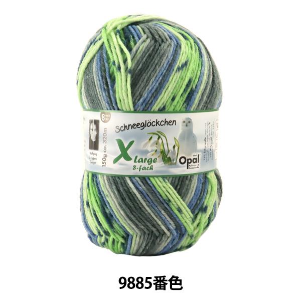 ソックヤーン 毛糸 『Snowdrop(スノードロップ) Xlarge 8ply 9885番色』 Opal オパール