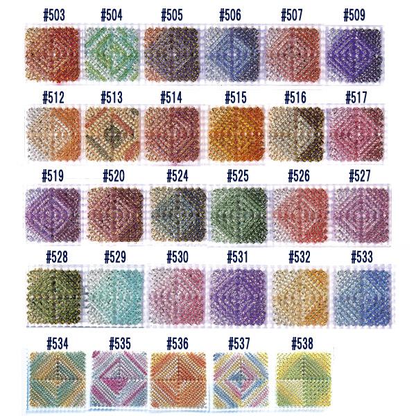 手芸糸 『メタリックヤーン ルビー 538番色』 Panami パナミ タカギ繊維
