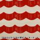 【数量5から】 生地 『う早この布 綿麻キャンバス フリル 生成×レッド UP5757-A』 COTTON KOBAYASHI コットンこばやし 小林繊維
