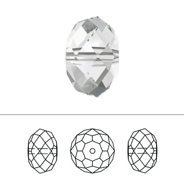 スワロフスキー 『#5040 Rondelle Beads アクアマリン 8mm 2粒』 SWAROVSKI スワロフスキー社