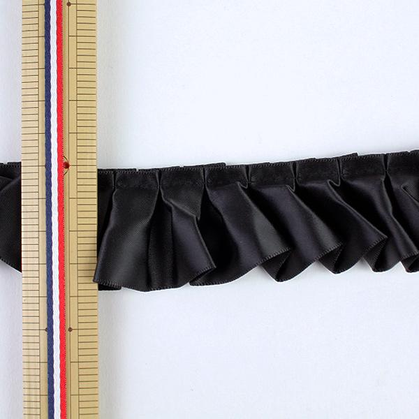 リボン 『フリルリボン 5m×41mm 一反売り クロ』