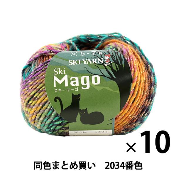 【10玉セット】秋冬毛糸 『Ski Mago(スキーマーゴ) 2034番色』 SKIYARN スキーヤーン【まとめ買い・大口】