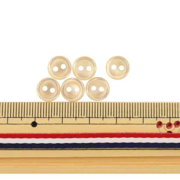 ボタン 『シャツボタン 二つ穴 9mm 6個入り 40番色 PVSO9003-40-9』