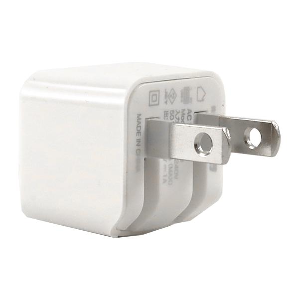 レジン用品 『AC充電器 1A USB1ポート WH ホワイト』 カシムラ