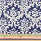 【数量5から】生地 『マンセルコレクション 綿麻シーチング ダマスク柄 ネイビー YUZ-739-2』 mansell マンセル YUWA 有輪商店【ユザワヤ限定商品】