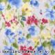 【数量5から】 生地 『Wガーゼ(ダブルガーゼ) 水彩花柄 CC913052-3』 YUWA 有輪商店