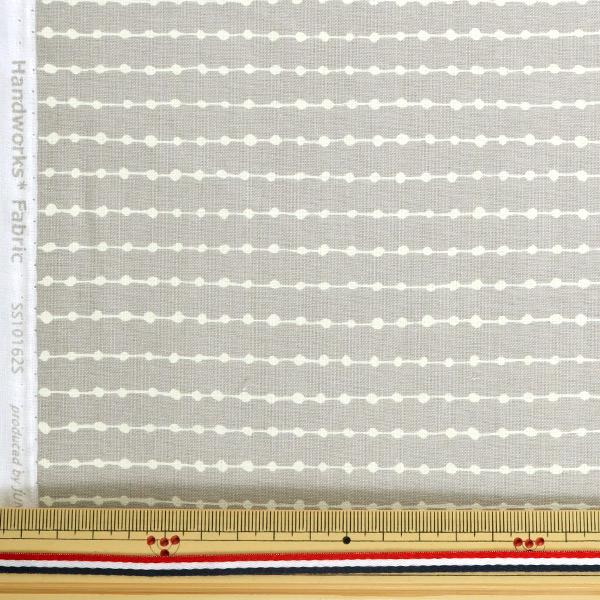 【数量5から】 生地 『シーチング シンプルパターン グレー SS10162S-F』