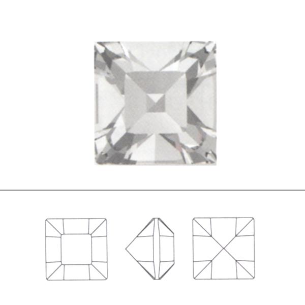 スワロフスキー 『#4428 XILION Square クリスタルゴールデンシャドウ 3mm 6粒』 SWAROVSKI スワロフスキー社