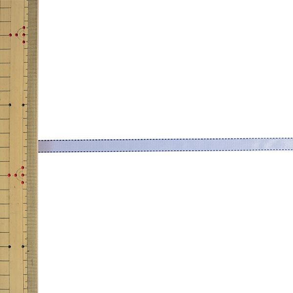 【数量5から】 リボン 『デューク・S 幅約9mm 6番色 ホワイト デニムブルー 22700』 TOKYO RIBBON 東京リボン