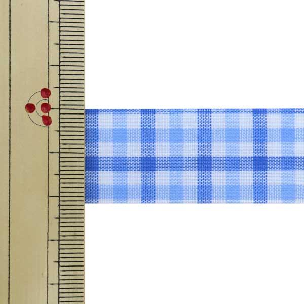 【数量5から】 リボン 『キャンディチェック 1445 幅約2.2cm 22番色』 AOYAMARIBBON 青山リボン