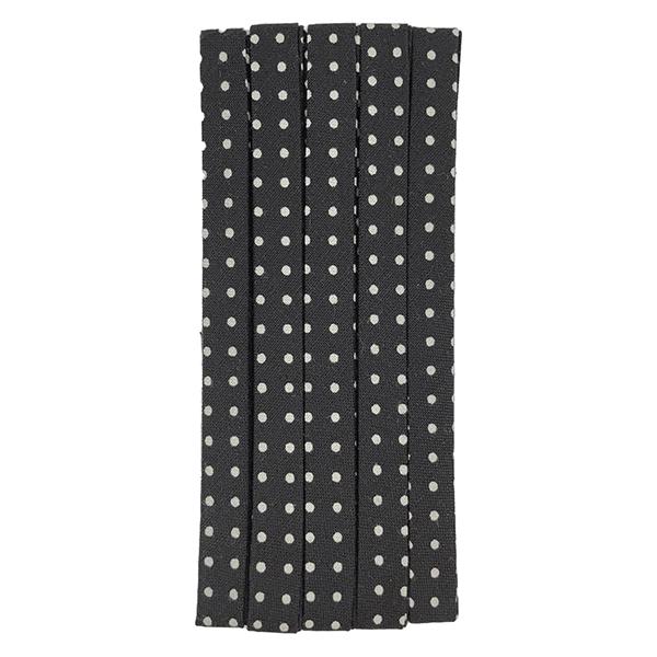 バイアステープ 『麻バイアステープ ふちどり11 56番色 (黒) CP125-56』 CAPTAIN88 キャプテン