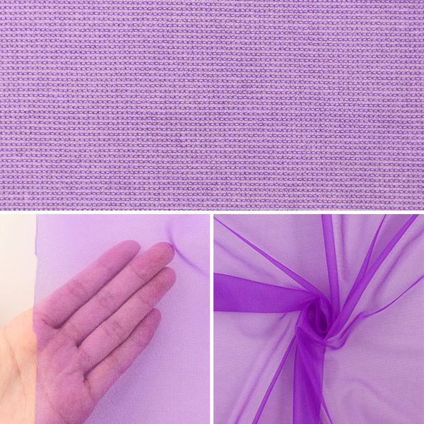 【数量5から】生地 『スパークハーフ 紫 477-10』