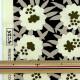 【数量5から】 生地 『う早この布 10番キャンバス 姫月下美人 ブラック×アイボリー UP5753-D』 コットンこばやし 小林繊維