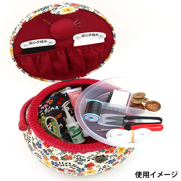 裁縫箱 『LIBERTY リバティプリント ソーイングバスケット SO4-30098D』【ユザワヤ限定商品】