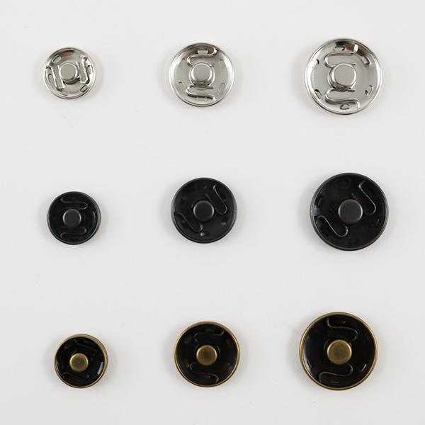 ボタン 『サンコッコービッグスナップ 17mm 黒ニッケル 4組入』 SUN17-02