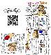 ゆずネイル|ネイルチップ  ホワイト系 オレンジ系 ブラック系 秋 カジュアル ハロウィン ポップ・個性的(B12006-Q-BK)