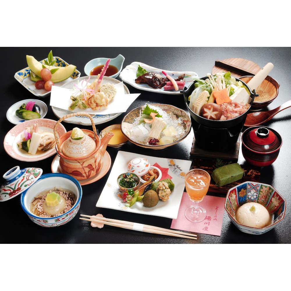 吉野山で山の会席料理のご宿泊(1泊2食付3名様ご宿泊券)
