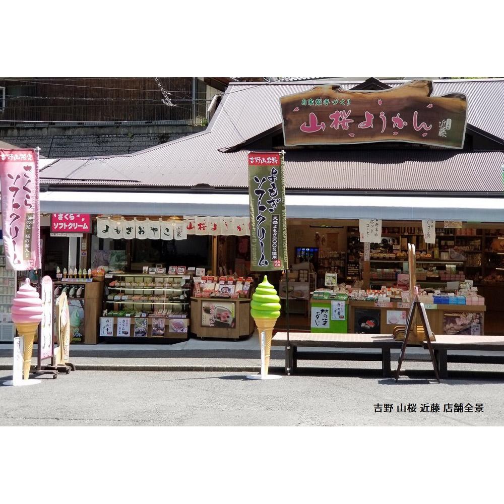 吉野の和スイーツセットB-2 (山桜ようかん・山桜くず餅・吉野葛湯)