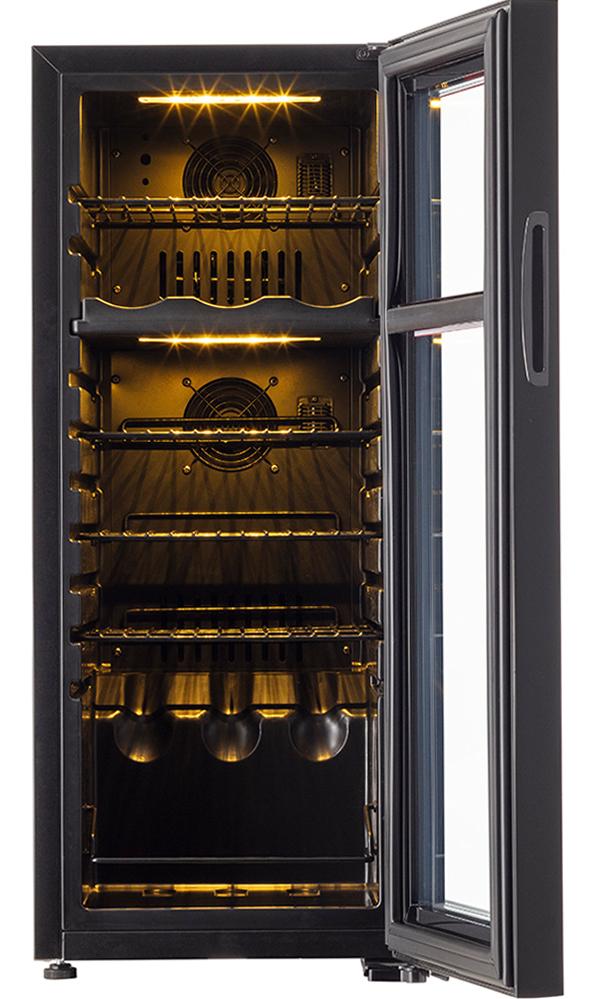 【18本】 フォルスター ホームセラー FJH-56GD(BK)2温度帯 18本用 【左把手】 【ワイン15%オフ】
