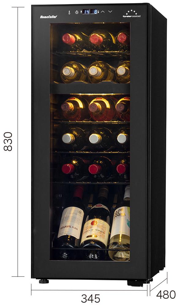 【18本】 フォルスター ホームセラー FJH-56GD(A)2温度帯 18本用 【左把手】 【ワイン15%オフ】