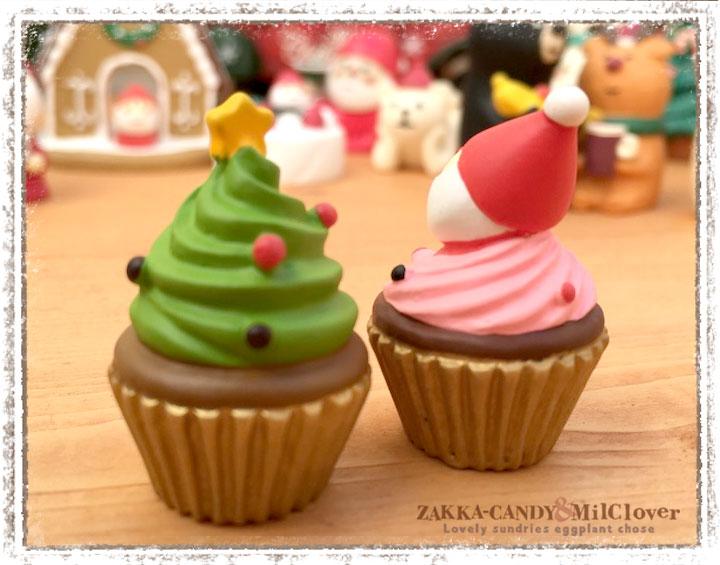 concombre クリスマスミニケーキ(2個セット)【クリスマス雑貨 DECOLE デコレ】