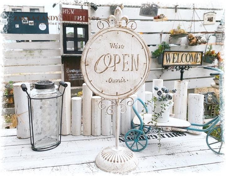 オープン クローズ マガザン スタンディングサイン OPEN CLOSED