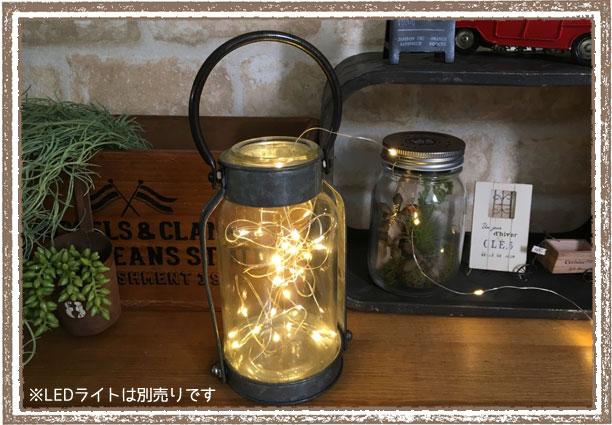 GARAGE METAL BOTTLE Sサイズ(ガレージメタルボトルS) 【インダストリアルなガラスボトル 花瓶】