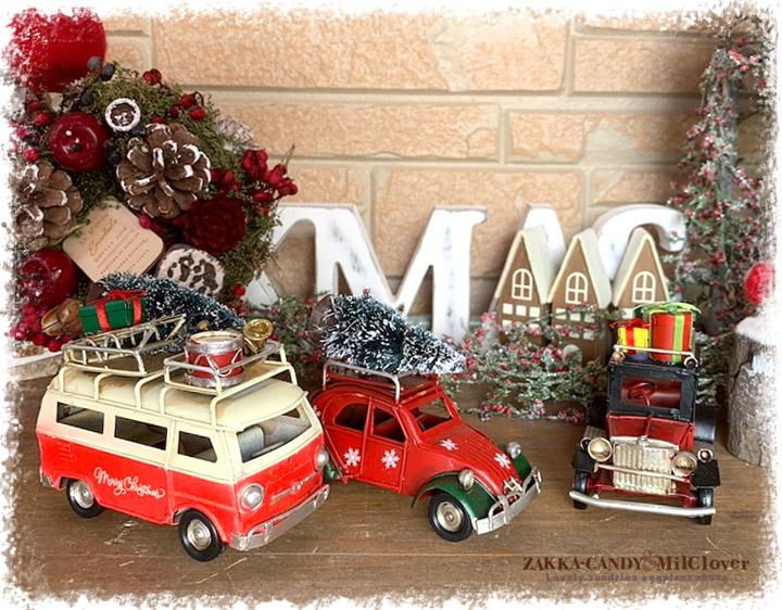 ノスタルジックデコ ティンクリスマス  レトロカー S