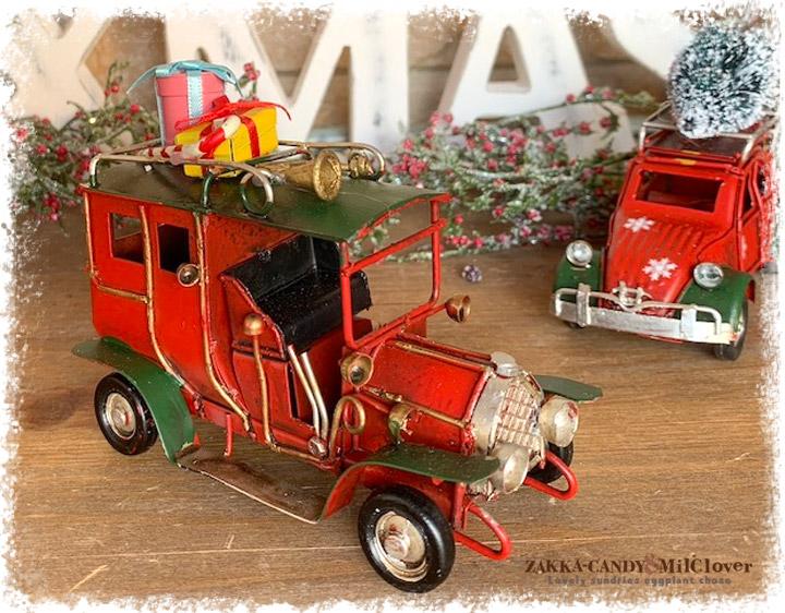 ノスタルジックデコ ティンクリスマスカー レトロカー S プレゼントRxG