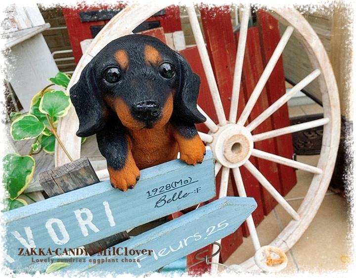 【ガーデン雑貨 可愛い犬の置物】引っ掛け ハンギング ダックス