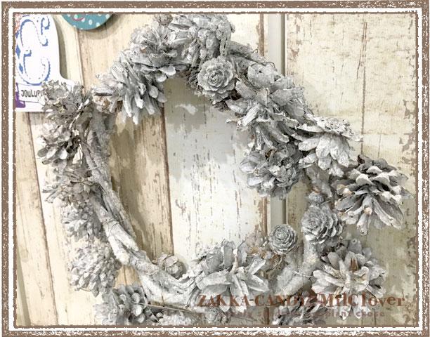 【特価ナチュラルリース】クリスマスリース ネージュパインリースS