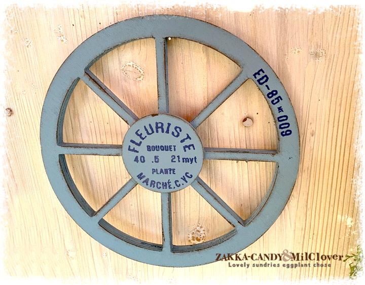 ナチュラルアンティーク 木製車輪 アラモードルー ガーデンウィール