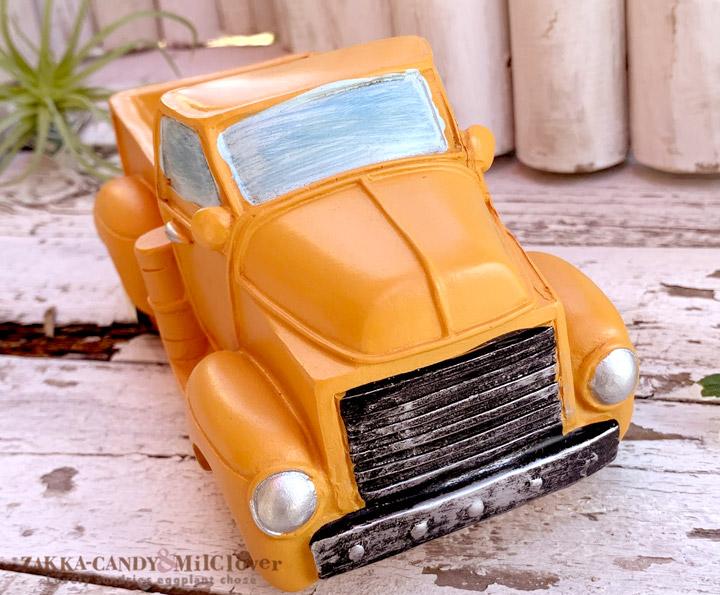 フラワーポットレトロなトラック プランター イエロー