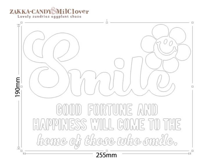オリジナルステンシルシート Smile +フラワー