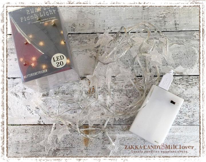 USB・電池  2WAYLEDフラッシュライトスター20球【イルミネーション クリスマス雑貨 インテリアライト 照明】