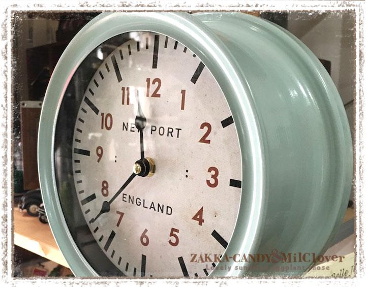 掛け時計 NEW PORT ステーションウォールクロック【シンプル ナチュラル】