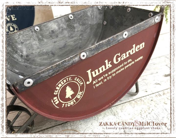 アジアジ ガーデン雑貨  ジャンクガーデン  azi-azi JUNK ミニセミサークルカートプランター