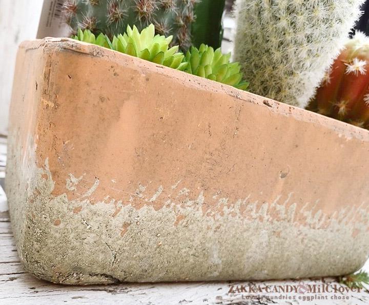 フェイクグリーン 花サボテン寄せ植え レクトポット Lサイズ SPICE OF LIFE