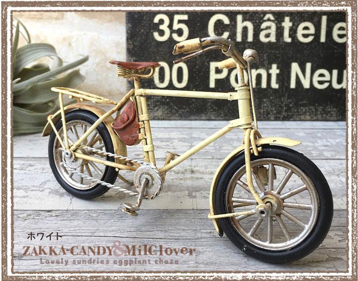 アンティーク調レトロな自転車のオブジェ ノスタルジックデコ バイシクル
