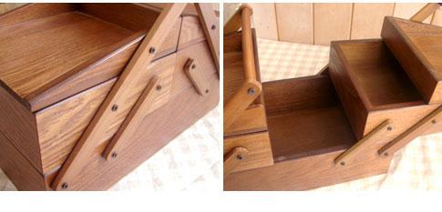 Creer ブランソーイングボックス【ナチュラル 木製 裁縫箱】