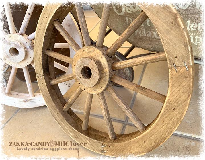 木製車輪 ウッドホイール ガーデンウィールS
