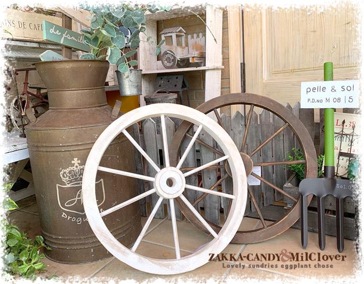 5月29-30日再入荷木製車輪 ウッド ホイール ガーデンウィール【アンティーク調 ナチュラルガーデン】