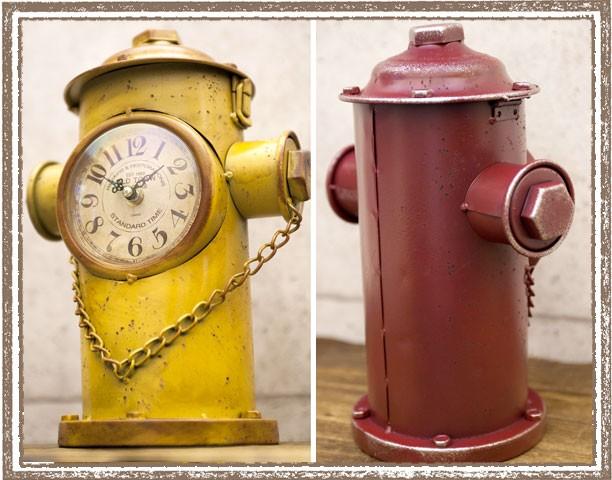 レトロデイズ 消火栓クロック[Hydrant]