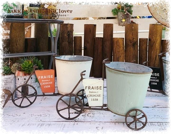 三輪車 プランター フラワーポット フラーゴラ カートS