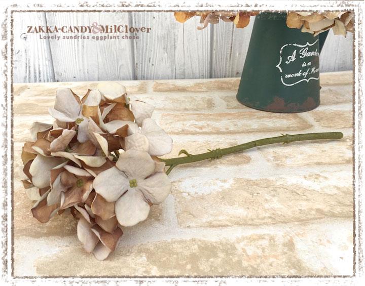 ドライ風  紫陽花(あじさい)フェイクグリーン ハイドランジアピック