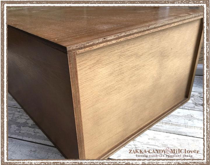 ナチュラルな木製3段書類ケース 日本製 ブラウン
