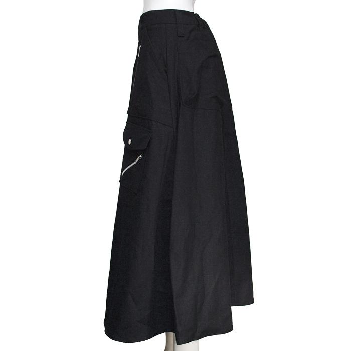 CLASH ZIP ロングスカート ツイードタータン