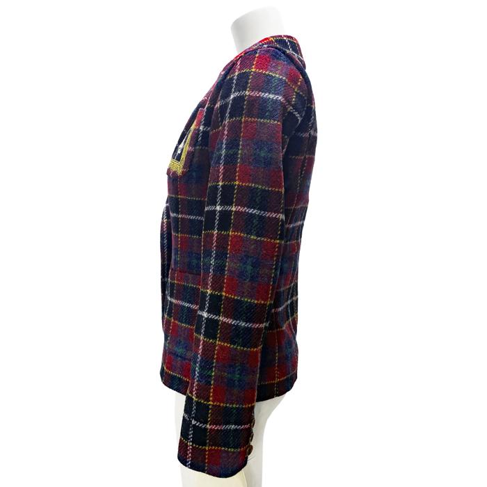 ハリスツイードチェックエンブレム刺繍 ジャケット(数量限定)